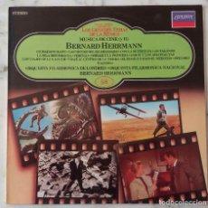 Discos de vinilo: BERNARD HERRMANN. MÚSICA DE CINE. B. HERRMANN DIRIGE. LP ESPAÑA. Lote 147498634