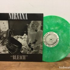 Discos de vinilo: ULTRA DIFICIL DISCO VINILO NIRVANA BLEACH US EDITION 1992 SUB POP SP34 VERDE MARMOL. Lote 147499508