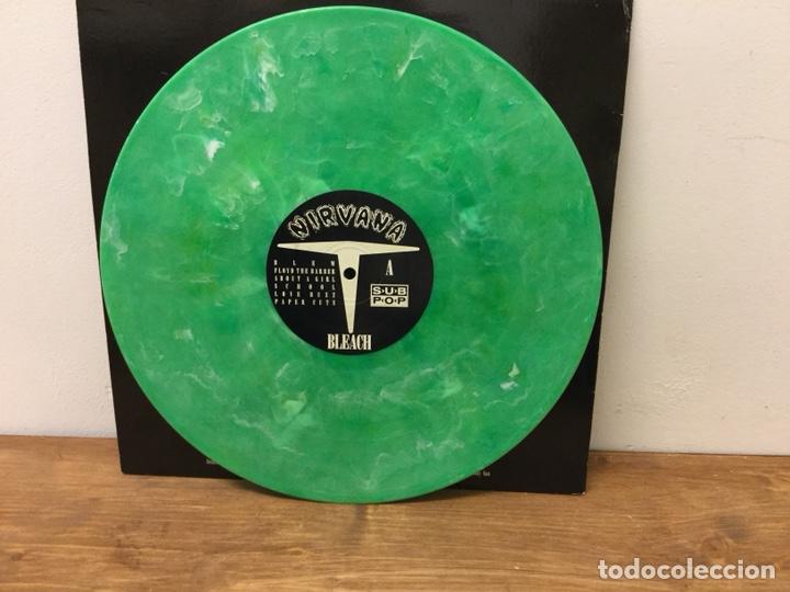 Discos de vinilo: ULTRA DIFICIL DISCO VINILO NIRVANA BLEACH US EDITION 1992 SUB POP SP34 VERDE MARMOL - Foto 7 - 147499508