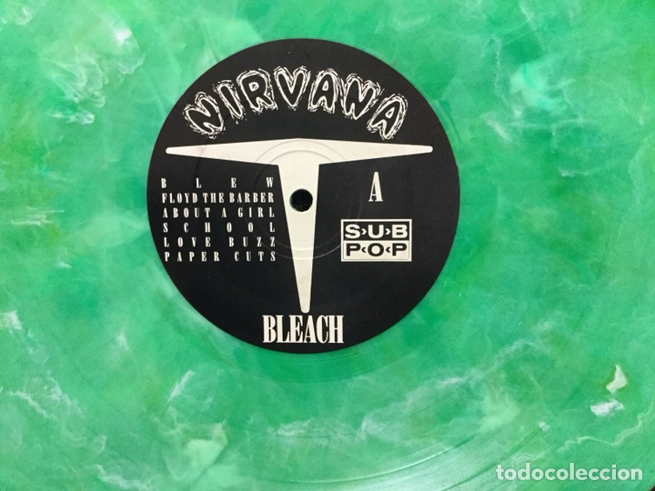 Discos de vinilo: ULTRA DIFICIL DISCO VINILO NIRVANA BLEACH US EDITION 1992 SUB POP SP34 VERDE MARMOL - Foto 8 - 147499508