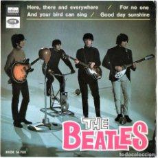 Discos de vinilo: THE BEATLES,DISCO SINGLE, 4 CANCIONES,BIEN CONSERVADO,AÑO 1966-EMI-ODEON.POP BRITANICO. Lote 147500490