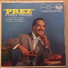 Discos de vinilo: PEREZ PRADO EP PREZ EDICION ESPAÑA RCA AÑO 1958. Lote 147501326