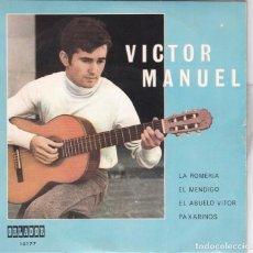 Discos de vinilo: VICTOR MANUEL,LA ROMERIA Y 3 TEMAS MAS DEL 70. Lote 147501866