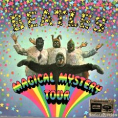 Discos de vinilo: THE BEATLES,DOBLE DISCO SINGLE,MAGICAL MYSTERY TOUR,AÑO 1967,COMO NUEVO,COMIC,MADE GERMANY MUY RARO. Lote 147505274