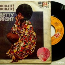Discos de vinilo: BETTY WRIGHT - SHOORAH! SHOORAH! / TONIGHT IS THE NIGHT - SINGLE ESPAÑOL 1974 - RCA. Lote 147506322