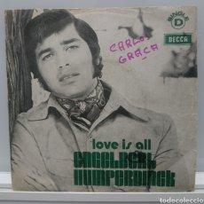 Discos de vinilo: ENVÍO GRATIS ENGELBERT HUMPERDINCK - LOVE IS ALL CON LADY OF THE NIGHT 1973 EDICIÓN PORTUGUESA. Lote 147507768