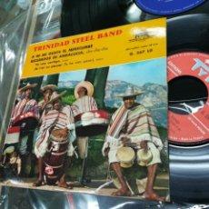 Discos de vinilo: TRINIDAD STEEL BAND EP A MI ME GUSTA EL MERECUMBE + 3 FRANCIA. Lote 147507933