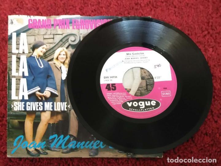 Discos de vinilo: JOAN MANUEL SERRAT (SHE GIVES ME LOVE (LA LA LA) + GAVIOTA) Single Grand Prix Eurovision 1968 - Foto 3 - 147509158