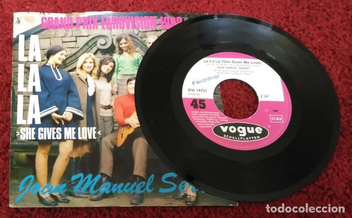 Discos de vinilo: JOAN MANUEL SERRAT (SHE GIVES ME LOVE (LA LA LA) + GAVIOTA) Single Grand Prix Eurovision 1968 - Foto 4 - 147509158