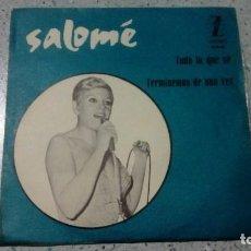 Discos de vinilo: VINILO SALOME TODO LO QUE SE / TERMINEMOS DE UNA VEZ ZAFIRO. Lote 147510278