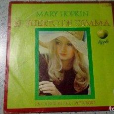 Discos de vinilo: VINILO MARY HOPKIN EL PUERTO DE TEMMA / LA CANCION DEL CACHORRO HISPAVOX. Lote 147511538