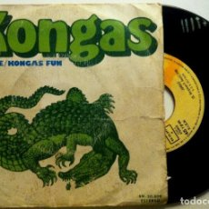 Discos de vinilo: KONGAS - JUNGLE / KONGAS FUN - SINGLE ESPAÑOL 1974 - BARCLAY. Lote 147517922