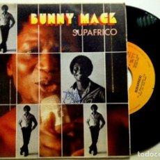 Discos de vinilo: BUNNY MACK - SUPAFRICO / SILVER SPOON - SINGLE ESPAÑOL 1981 - CBS. Lote 147521202