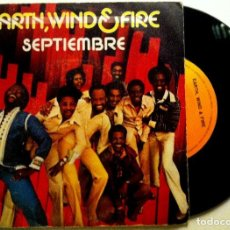 Discos de vinilo: EARTH, WIND & FIRE - SEPTIEMBRE / LOVE'S HOLIDAY - SINGLE ESPAÑOL 1978 - CBS. Lote 147521722