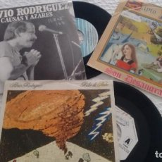 Discos de vinilo: LOTE DE 3 SINGLES (VINILO) DE SILVIO RODRIGUEZ. Lote 147525982