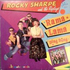 Discos de vinilo: ROCKY SHARPE & THE REPLAYS- RAMA LAMA DING DONG (ULTIMATE REMIX)- SG. PROMO- ED. ESPAÑOLA- 1990 . Lote 147530210