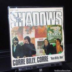 Discos de vinilo: THE SHADOWS--RUN BILLY, RUN & HONORABLE PUFF -PUFF --- EMI J-006-05912 AÑO 1975. Lote 147539882