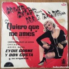 Discos de vinilo: EYDIE GORME EP 1960 I WNNA BE LOVED BY YOU MARILYN MONROE. Lote 147557914