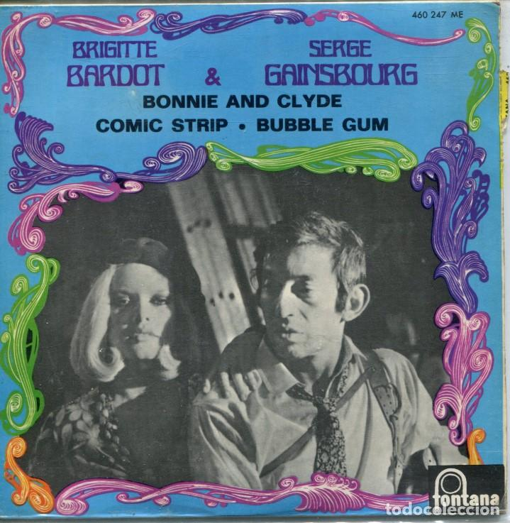 BRIGITTE BARDOT & SERGE GAINSGOURG / BONNIE AND CLYDE / COMIC STRIP / BUBBLE GUM (EP ESPAÑOL 1964) (Musik - Vinyl-Schallplatten - EPs - Französische und italienische Lieder)