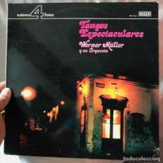 Discos de vinilo: WERNER MÜLLER Y SU ORQUESTA TANGOS ESPECTACULARES. Lote 147563414