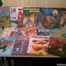 Discos de vinilo: LOTE DE 15 LPS DE CUENTOS EN ALEMÁN.. Lote 147567421
