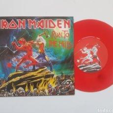 Discos de vinilo: IRON MAIDEN RUN TO THE HILLS SINGLE. Lote 147570288