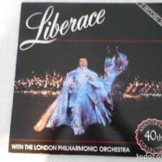 Discos de vinilo: LIBERACE. WITH THE LONDON PHILHARMONIC ORCHESTRA. DOBLE LP VINILO.. Lote 147570950