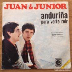 Discos de vinilo: JUAN & JUNIOR ANDURIÑA SINGLE EDIC ESPAÑA 1968. Lote 147574586
