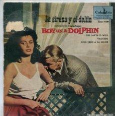 Discos de vinilo: LA SIRENA Y EL DELFIN (LIONEL NEWMAN) / THE JOKER IS WILD / DIOS CREO A LA MUJER (EP 1959). Lote 147574986
