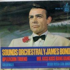 Discos de vinilo: SOUNDS ORCHESTRAL Y JAMES BOND / OPERACION TRIUENO + 3 (EP 1965). Lote 147575206