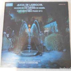 Discos de vinil: ALICIA DE LARROCHA. MANUEL DE FALLA. NOCHES EN LOS JARDINES DE ESPAÑA. CHOPIN. CONCIERTO PARA PIANO. Lote 147576010