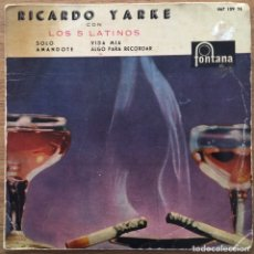 Discos de vinilo: RICARDO YARKE EP FONTANA AÑO 1960. Lote 147580646