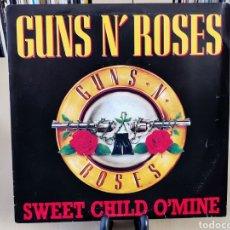 Discos de vinilo: GUNS N ROSES -SG- SWEET CHILD OMINE OR SPAIN PROMO. Lote 147591702