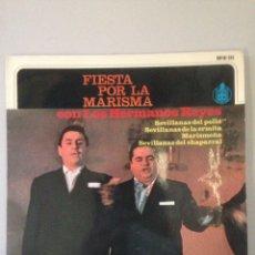 Discos de vinilo: LOS HERMANOS REYES FIESTA POR LA MARISMA. Lote 147599824