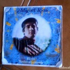 Discos de vinilo: DISCO DE MIGUEL RIOS ,TEMAS ,EL RIO Y VUELVO A GRANADA. Lote 147601830