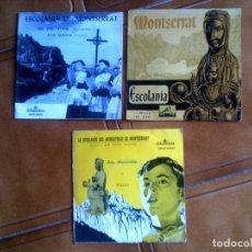 Discos de vinilo: LOTE DE DISCOS DE ESCOLANIA DE MONTSERRAT AÑOS 60 Y 70. Lote 147602066