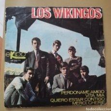 Discos de vinilo: LOS VIKINGOS. VITA MÍA + 3.. Lote 147602852