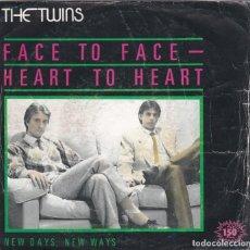 Discos de vinilo: THE TWINS,FACE TO FACE-HEART TO HEART DEL 83 PROMO. Lote 147609394