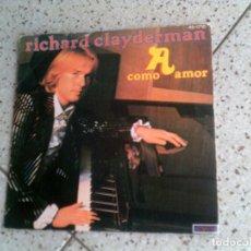 Discos de vinilo: DISCO DE RICHARD CLAYDERMAN TEMAS , COMO AMOR ,. Lote 147611886