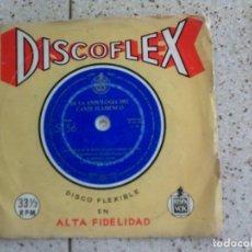 Discos de vinilo: DISCOFLEX DE LA ANTOLOGIA DEL CANTE FLAMENCO AÑO 1962 DISCO DE COLOR. Lote 147612078