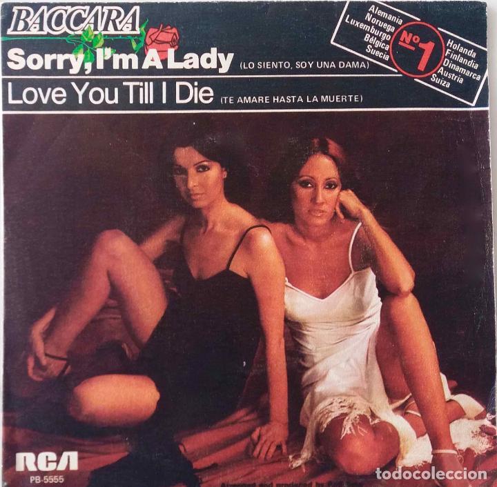 BACCARA. SORRY, I´M A LADY. SINGLE ESPAÑA (Música - Discos - Singles Vinilo - Disco y Dance)