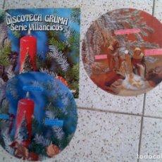 Discos de vinilo: LOTE DE DISCOS DISCOTECA GRUMA SERIE VILLANCICOS PICTURE DISC VARIOS. Lote 147613010