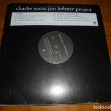 Discos de vinilo: CHARLIE WATTS JIM KELTNER PROJECT. AIRTO . 2 LP´S PROMOCIONAL. MAXI-SINGLE. IMPECABLE (#). Lote 147613050