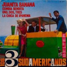 Discos de vinilo: LOS 3 SUDAMERICANOS. JUANITA BANANA. EP. Lote 147613086