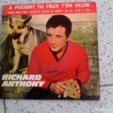 Discos de vinilo: DISCO DE RICHARD ANTHONY AÑO 1964 CONTIENE 4 TEMAS. Lote 147614066