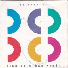 Discos de vinilo: 38 SPECIAL,LIKE NO OTHER NIGHT DEL 86. Lote 147614094