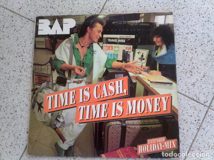 DISCO DE BAP ,TIME IS CASH TIME IS MONEY (Música - Discos de Vinilo - Maxi Singles - Pop - Rock - New Wave Extranjero de los 80)