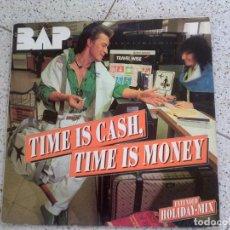 Discos de vinilo: DISCO DE BAP ,TIME IS CASH TIME IS MONEY. Lote 147617210
