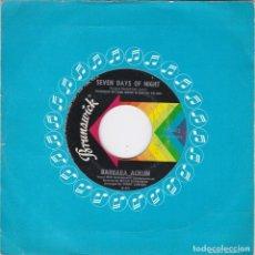 Discos de vinilo: BARBARA ACKLIN,A REGGEDY RIDE Y SEVEN DAYS OF NIGHT EDICION USA SI CARATULA. Lote 147618518
