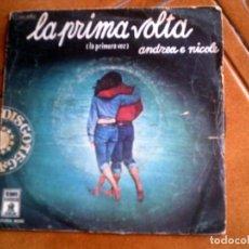 Discos de vinilo: DISCO LA PRIMA VOLTA DE ANDREA Y NICOLE AÑO 1976. Lote 147619990